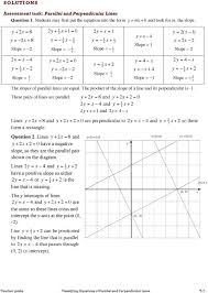 teacher guide classifying equations of parallel and perpendicular lines t 7 1 2 y 2x 2 x 2 y 4 x 2y 4