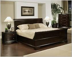 Bedroom  Furniture Bedroom Varnished Wooden Low Profile Queen Bed - Red gloss bedroom furniture
