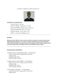 CARLOS ALBERTO LOPEZ MCNULTY PERSONAL INFORMATION: Panama, Rep. of Panama  DATE OF BIRTH ...