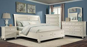 Klaussner Bedroom Furniture Whittington White Storage Bedroom Set Klaussner Furniture Cart