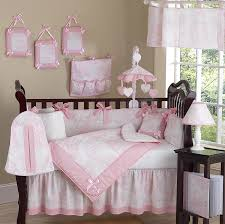 pink and white french toile baby bedding 9 pc crib set