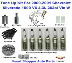 Tune Up Kit for 00-01 Chevrolet Silverado 1500 Spark Plug, Fuel ...
