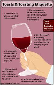 6 toasting etiquette tips