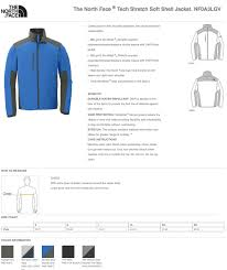 North Face Nf0a3lgv Tech Stretch Jacket Size Chart Holy Shirt