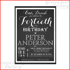 fullsize of sleek free 40th birthday party invitation templates 104392 template 50th birthday invitations him templates
