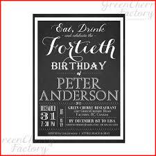 fullsize of sleek free 40th birthday party invitation templates 104392 template 50th birthday invitations him templates