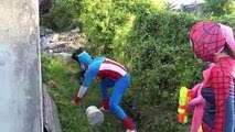 Spiderman vs Venom vs Frozen Elsa gunfight, Anna <b>Joker</b> Captain ...