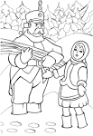 Картинка к сказке 12 месяцев раскраска