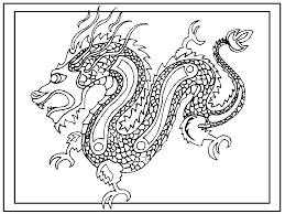 Chinese Zodiac Coloring Pages Printable With Chinese New Year Dragon