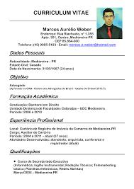 Curriculum Vitae Com Foto Avare Guia Avare Guia Oficial Da