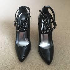 Fancy Dancer Leather Designs Amazing Black Grommet Esque Vinyl Heels These Are
