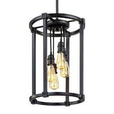 cage pendant lighting. 4-Light Antique Bronze Pendant With Vintage Bulbs Cage Lighting A