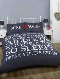 Snooze Bedroom Furniture Kiss Me Double Bed Size Snooze Snuggle Navy Blue White Red Duvet