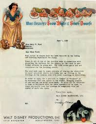 Disney Rejection Letter From 1938 Tells Candidate Girls Are Not