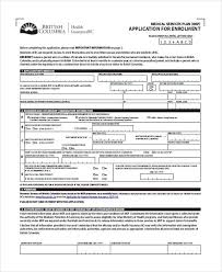 Enrollment Form Classy 44 Medical Application Forms In PDF