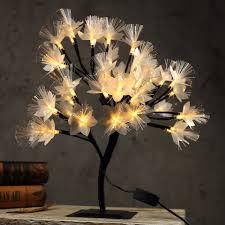 Fiber Optic Blossom Led String Lights 40cm Led Cherry Blossom Tree Light Table Lamp Luminaria