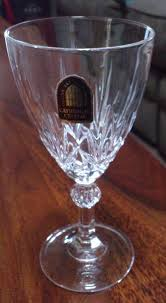 set of 6 wine italian 24 lead crystal glasses cathedral crystal glass