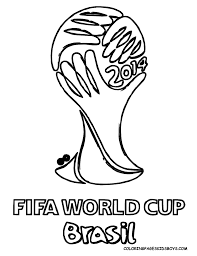 Small Picture World Cup 2014 Coloring Page Soccer Coloring Pages Pinterest