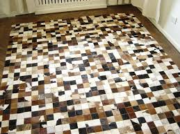 patchwork leather rug genuine cowhide leather patchwork rug