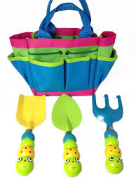 review kids garden tool set with tote tools handles made as cute bugs