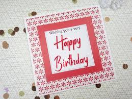 Card Bday Happy Birthday Card Bday Card In Red Flowers Birthday Card Handmade Cards