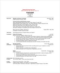 Sample Nursing Resume 10 Examples In Word Pdf