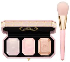 <b>Too Faced Diamond</b> Light Highlighter Palette Trio w/ Brush - QVC.com