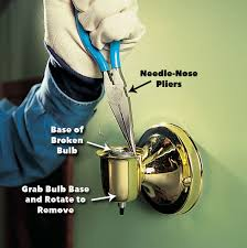 How To Replace A Broken Bayonet Light Fitting How To Remove A Broken Light Bulb Family Handyman