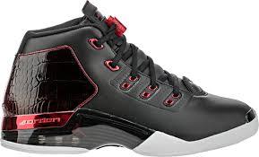 jordan 17. air jordan retro 17 bulls mid mens lifestyle shoe (black/gym red/white) free shipping