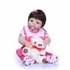 """NPK 22"""" 55cm real <b>full silicone</b> reborn dolls <b>newborn baby</b> girl dolls ..."""