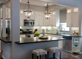 kitchen lighting 3 lights pendant lamp with clear glass shade for lights over breakfast bar