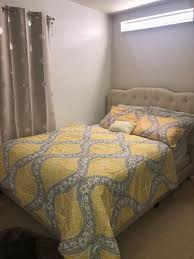 mainstays yellow damask 8 piece bed in