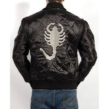 Ryan Gosling White Scorpion Logo Drive Jacket For Sale