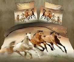 luxury queen 3d horse bedding set