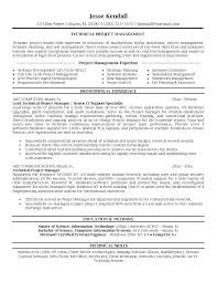Project Manager Sample Resume Format Rig Manager Resume Sample
