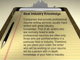 6. Best Industry Knowledge Companies that provide professional resume  writing ...