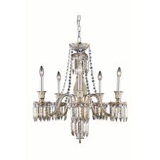 elegant lighting majestic elegant cut crystal golden teak five light 34 in chandelier