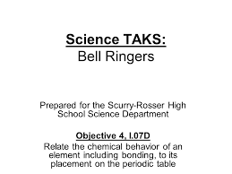 Science TAKS: Bell Ringers Prepared for the Scurry-Rosser High ...