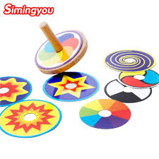 Wooden Spinning Top Game Simingyou Learning Education Wooden Spinning Top Gyro 45
