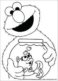 Baby Sesame Street Characters Coloring Pages Printable Coloring