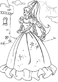 Small Picture Barbie Princess Coloring Page Coloring Coloring Pages