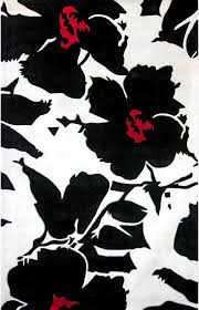 image of black and white area rugs design