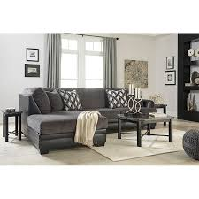 dark gray ashley furniture asi smoke sectional to own furniture af all