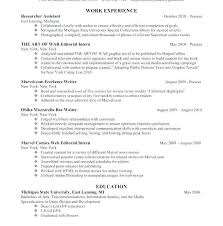 Editorial Researcher Sample Resume