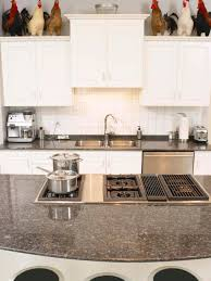 test kitchen with granite countertop s