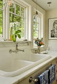 burlington galvanized utility sink with stone and countertop professionals kitchen traditional