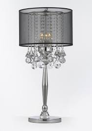 office beautiful crystal lamp shade 22 white table lamps for black transpa polished with chandelier