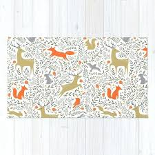 woodland animal rug animals folk nursery