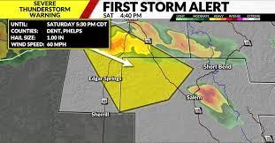 Severe thunderstorm warning for Phelps ...