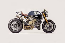 the blue shark ducati panigale r cafe racer ducati